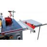 Aceasta masina lemn este livrata cu extensie masa care permite debitarea panourilor supradimensionate
