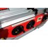 Manivelele pentru ajustarea inaltimii axului frezor si unitatii de taiere sunt aranjate convenabil pe partea frontala a masinii
