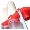 Montarea si schimbarea usoara si rapida a sacului colector prin sistemul de fixare rapida cu colier si cleme