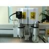 Transmisia se realizeaza cu ajutorul unor servo motoare cu curele canelate si ghidaje liniare