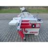 Masa de formatizat este dotata cu mitra telescopica cu limitatoare