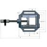 Menghina cu bacuri prismatice pentru masini de gaurit Optimum MSO 125 - dimensiuni