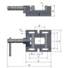 Menghina cu bacuri prismatice pentru masini de gaurit Optimum BMS 100 - dimensiuni