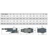 Menghina rotativa de precizie Optimum FMS 125 - dimensiuni