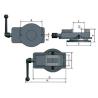 Menghina rotativa de precizie Optimum FMSN 125 - dimensiuni