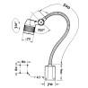 Lampa cu baza magnetica si brat flexibil Optimum AL 25 - dimensiuni