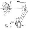 Lampa cu brat articulat Optimum AL 35 - dimensiuni