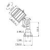 Lampa cu brat articulat Optimum LED 8 - 100 - dimensiuni
