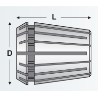 Bucsa elastica Canela tip ER 16, DIN 6499B, 8,0 mm - dimensiuni