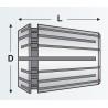 Bucsa elastica Canela tip ER 25, DIN 6499B, 2,5 mm - dimensiuni