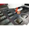 Dispozitivul plasma cu puterea de 100 A asigura debitarea a grosimi intre 0,5 - 10 mm