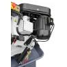Coborarea bratului se realizeaza cu ajutorul unui cilindru hidraulic ce este actionat cu ajutorul unui robinet