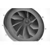Ventilator radial este dotat cu palete realizate din otel