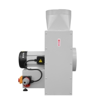 Ventilatorul dispune de buton de oprire de urgenta