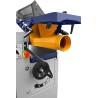 Aceasta masina de rindeluit are hota de exhaustare reglabila integrata cu diametrul de racordare de 100 mm