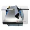 Masina se caracterizeaza cu mese rabatabile pentru o ghidare usoara a pieselor de prelucrat pe timpul operatiunii de degrosat