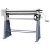 Masina are roluirea foilor metalice cu lungime maxima de 1000 mm si grosimi de pana la 2 mm