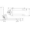 Transpalet standard Unicraft PHW 2510 PRO
