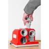 Ideala pentru slefuirea burghielor elicoidale din HSS sau metal carbura cu diametre intre 3 mm si 13 mm.
