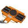 Suprafata cauciucata garanteaza stabilitatea piesei de deplasat