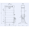 Presa de atelier hidraulica cu operare manuala RHTC 15 TON HF2 - schita dimensiuni
