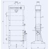 Presa de atelier hidraulica cu operare manuala RHTC 30 TON HF2 - schita dimensiuni