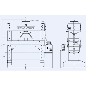 Presa de atelier hidraulica motorizata RHTC 60 TON M/H-M/C-2 - schita dimensiuni