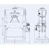 Presa de atelier hidraulica motorizata RHTC 100 TON M/H-M/C-2 D1500mm - schita dimensiuni