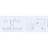 Presa hidraulica pentru indreptare RHTC TL-80 - schita dimensiuni