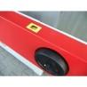 Adancimea de rindeluire este reglata cu ajutorul unei manivele pozitionata ergonomic
