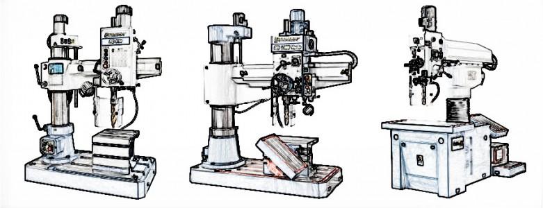 Masini de gaurit radiale Bernardo – utilizare si caracteristici